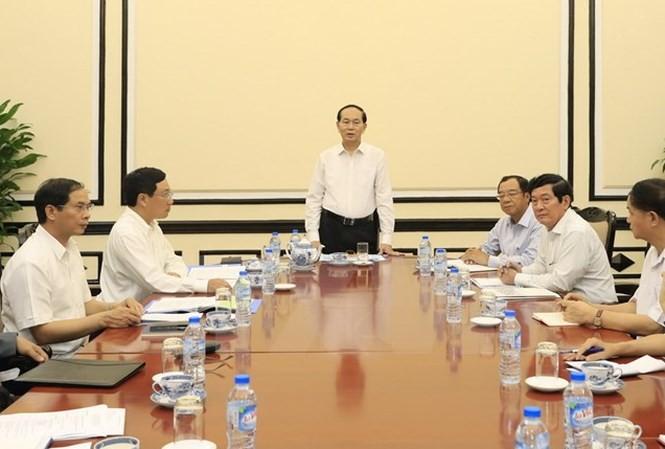 Presidente vietnamita instruye los preparativos del APEC - ảnh 1