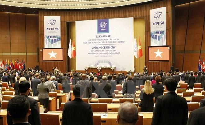 Líderes Parlamentarios Asia-Pacífico priorizan la paz, la creatividad y el avance sostenible - ảnh 1