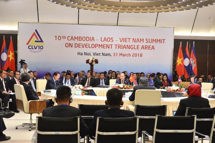Camboya, Laos y Vietnam reafirman determinación de impulsar el Triángulo de Desarrollo - ảnh 1