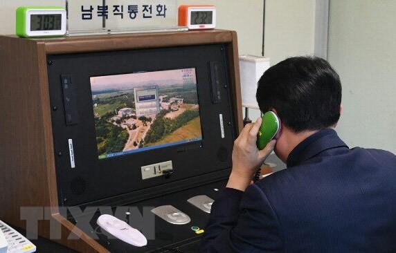 Las dos Coreas discutirán línea directa entre sus líderes - ảnh 1