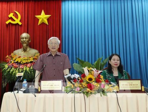 Líder partidista de Vietnam revisa el desarrollo socioeconómico de An Giang - ảnh 1