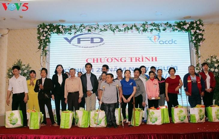 Mitin en conmemoración del Día de los Discapacitados vietnamitas - ảnh 1