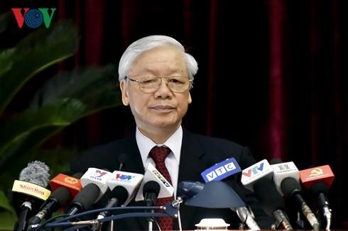 Inauguran el VII pleno del Partido Comunista de Vietnam - ảnh 1
