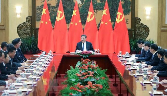 Presidente chino insiste en su apoyo al desarrollo de Corea del Norte - ảnh 1