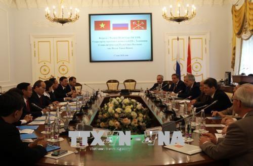 Ciudad Ho Chi Minh y San Petersburgo apuestan por ampliar su cooperación - ảnh 1