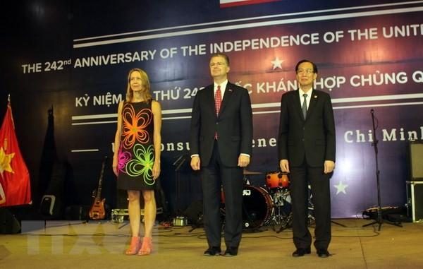 Ciudad Ho Chi Minh celebra los 242 años del Día de la Independencia de Estados Unidos  - ảnh 1