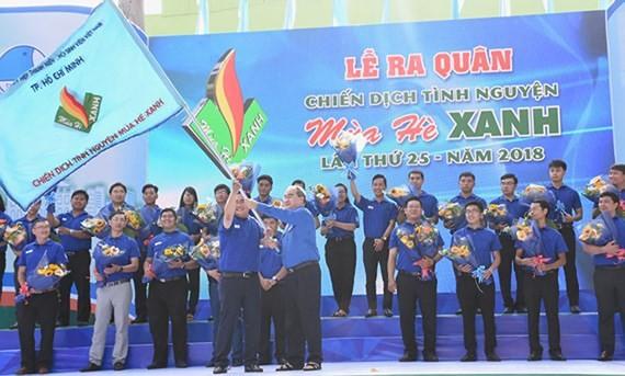 Ciudad Ho Chi Minh lanza XXV Campaña voluntaria de verano azul   - ảnh 1