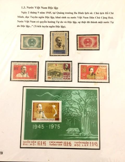 Sellos postales siguen en compañía con el desarrollo de Vietnam - ảnh 1