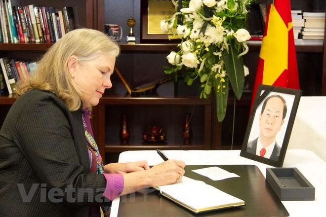 Continúan actos de homenaje al presidente Tran Dai Quang en Estados Unidos y Chile - ảnh 1