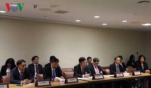 Sesionan la conferencia de cancilleres Asean-GCC en Nueva York - ảnh 1