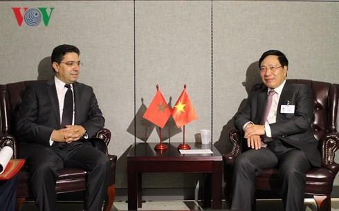 Vietnam promueve nexos con varios países durante la 73 Asamblea General de la ONU - ảnh 1