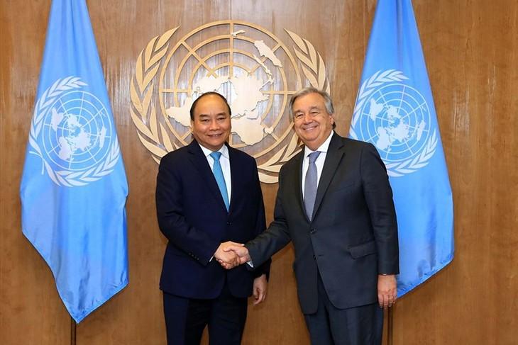 Premier vietnamita cumple intensa agenda de trabajo en la 73 Asamblea General de la ONU - ảnh 1
