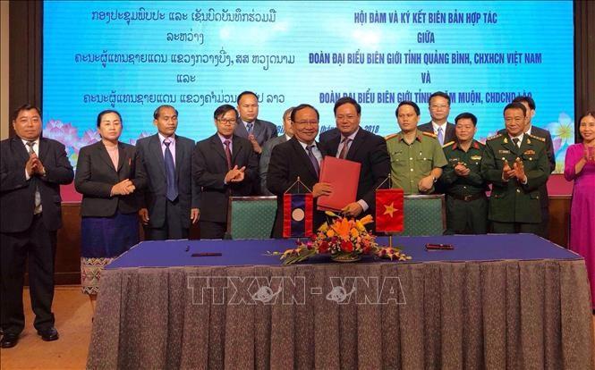 Localidades vietnamita y laosiana refuerzan cooperación en guardia fronteriza - ảnh 1