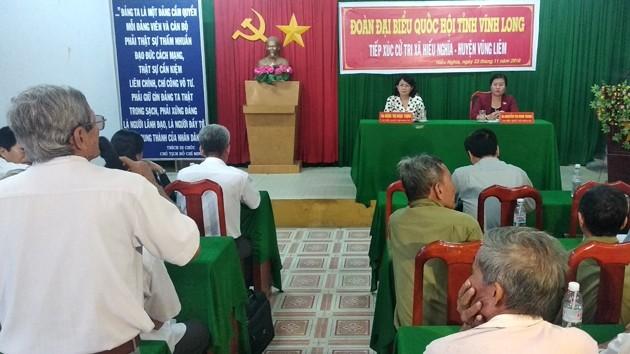 La vicepresidenta vietnamita se reúne con electores de Vinh Long - ảnh 1