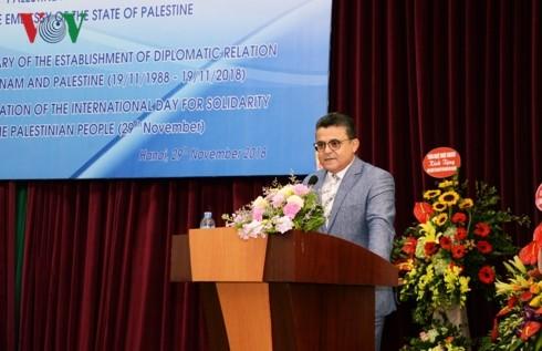 Vietnam y Palestina por reforzar solidaridad, amistad y cooperación - ảnh 1
