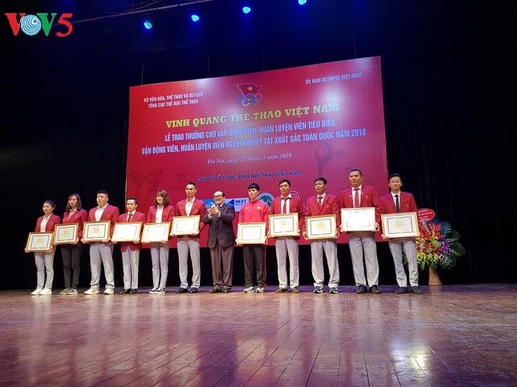 Enaltecen a los deportistas vietnamitas más destacados en 2018  - ảnh 1