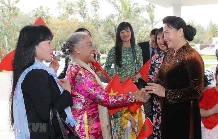 Presidenta parlamentaria de Vietnam visita Marruecos - ảnh 1