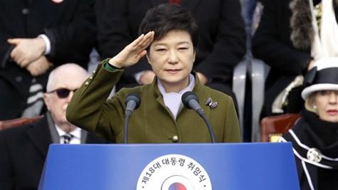 朴大統領「北核解決し平和統一へ - ảnh 1