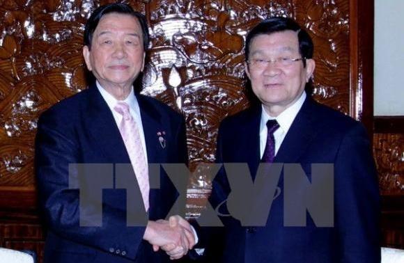 サン国家主席、日越堺友好協会理事長と会見 - ảnh 1