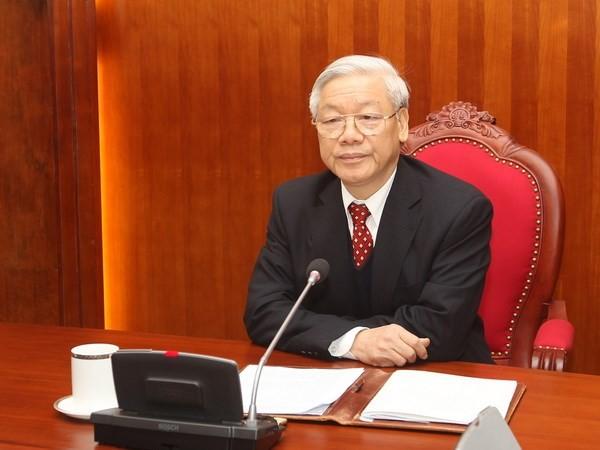 チョン書記長、中国国家主席と電話会談 - ảnh 1