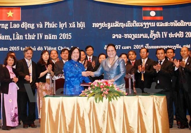 ベトナムとラオス、労働分野で協力強化 - ảnh 1