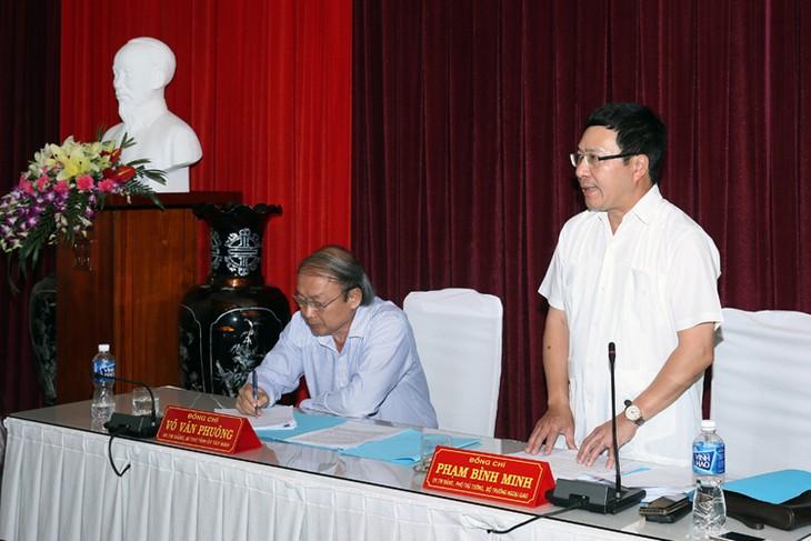 ミン副首相兼外相、タイニン省を訪問 - ảnh 1