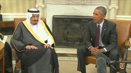 米大統領、サウジ国王と会談 - ảnh 1