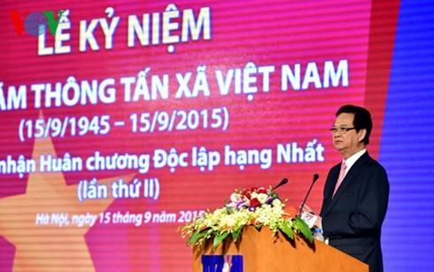 ズン首相、ベトナム通信社創設70周年式典に出席 - ảnh 2