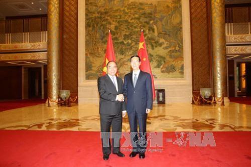 フック副首相、中国の副首相と会談 - ảnh 1