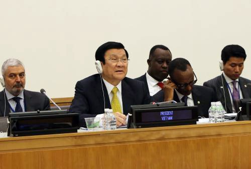 サン主席、国連開発首脳会議本会議で基調演説 - ảnh 1