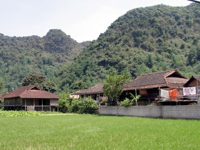 ランソン省にあるヌン族の村