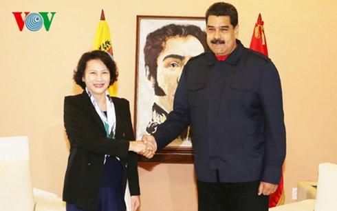 ガン国会議長、ベネズエラの大統領と会見 - ảnh 1