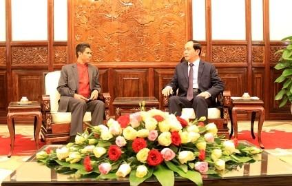 クアン国家主席 任期満了の東ティモール大使と会見 - ảnh 1