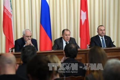 ロシアとトルコ、イランが外相会談 テロとの戦い強調 - ảnh 1
