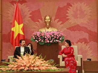 ガン国会議長、韓国とイランの新大使らと会見 - ảnh 2