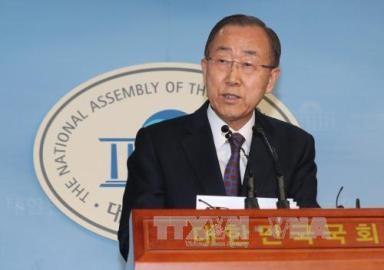 潘基文氏が一転、韓国大統領選への不出馬を表明 - ảnh 1
