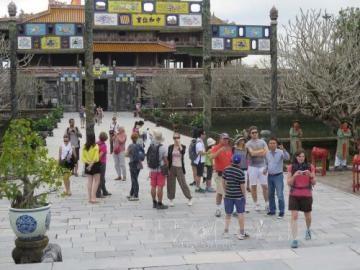 トアテェンフエ省への観光客、増加 - ảnh 1