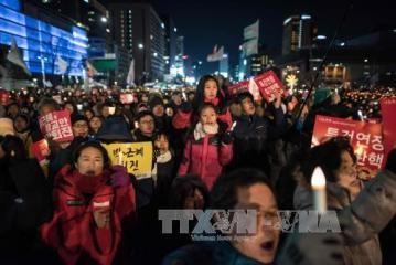 韓国、大統領の罷免賛否で集会 - ảnh 1