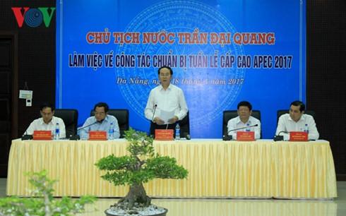 クアン国家主席、APEC首脳会議の準備作業を視察 - ảnh 1