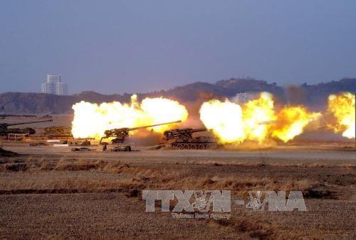朝鮮半島 緊張緩和の兆し まだ見えず - ảnh 1
