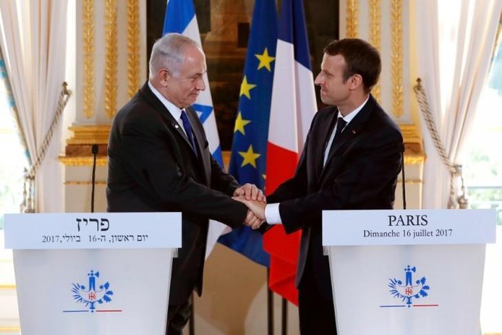 中東和平交渉再開へ「支援」 マクロン仏大統領 - ảnh 1