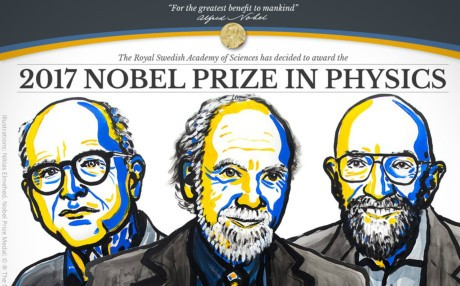 ノーベル物理学賞、重力波を観測した米3氏に - ảnh 1