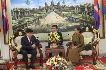 カンボジアの指導者、VOVの総裁と会見 - ảnh 1
