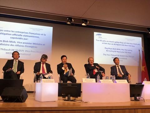 越の政府、省庁の指導者と仏企業の代表による会合 - ảnh 1