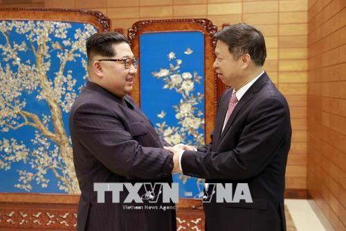 習主席の訪朝調整か キム委員長と会談した中国高官帰国 - ảnh 1