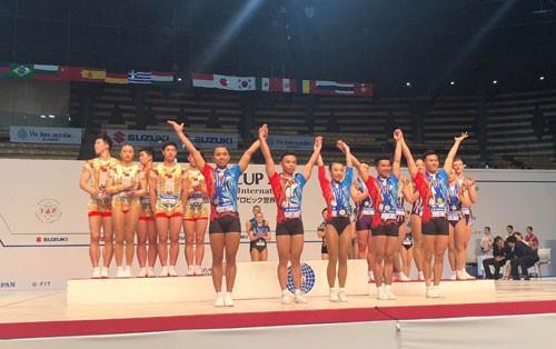 ベトナム エアロビクス世界大会で金メダル3個獲得 - ảnh 1