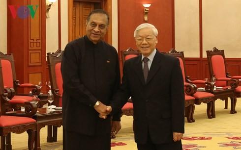 スリランカの国会議長、チョン書記長を表敬訪問 - ảnh 1