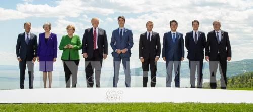 G7閉幕 首脳宣言を発表 かろうじて結束保つ - ảnh 1