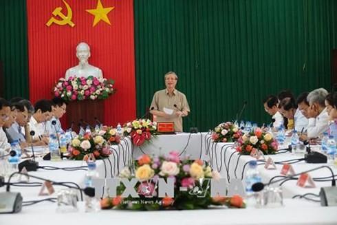党書記局作業グループ、中部クアンガイ党委と会合 - ảnh 1