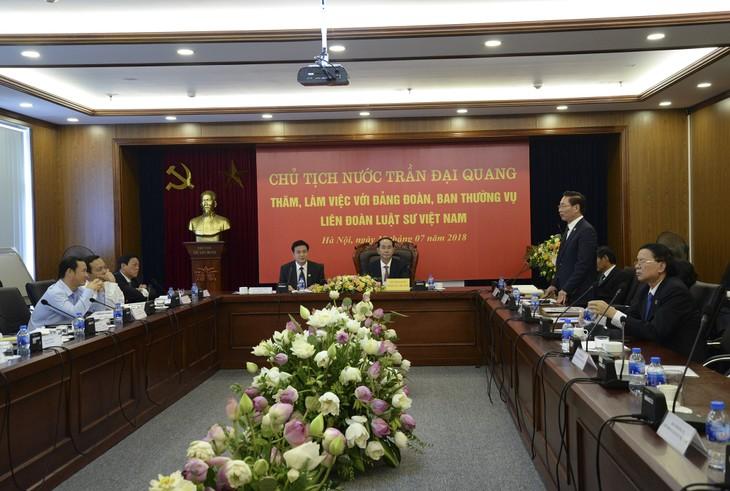 クアン主席、ベトナム弁護士連盟の代表と会合 - ảnh 1